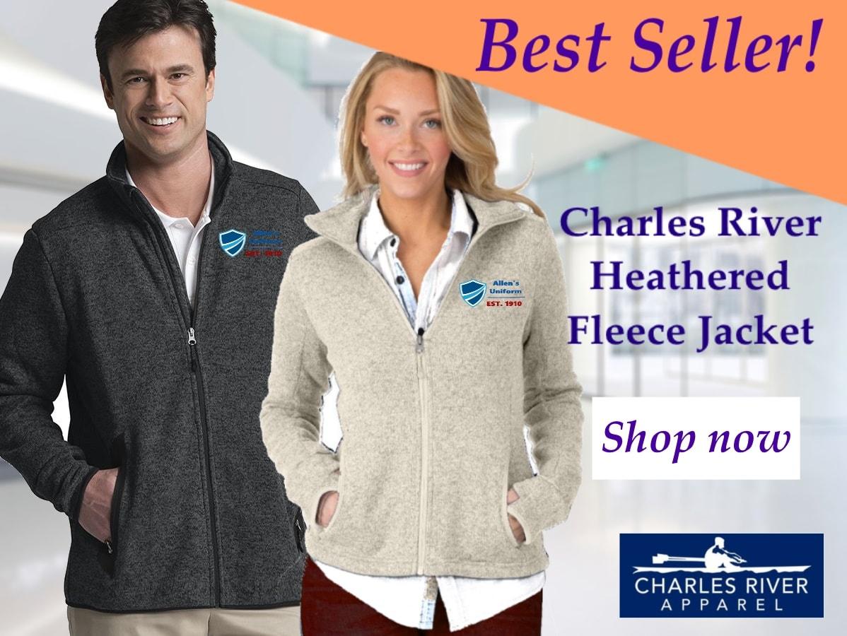 Charles River heathered fleece