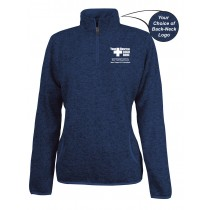Caring for a Cure Women's Heathered Fleece Pullover