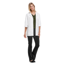 "MGH Institute of Health Professions Cherokee Women's 30"" 3/4 Sleeve Poly/Cotton Twill Lab Coat #1470"