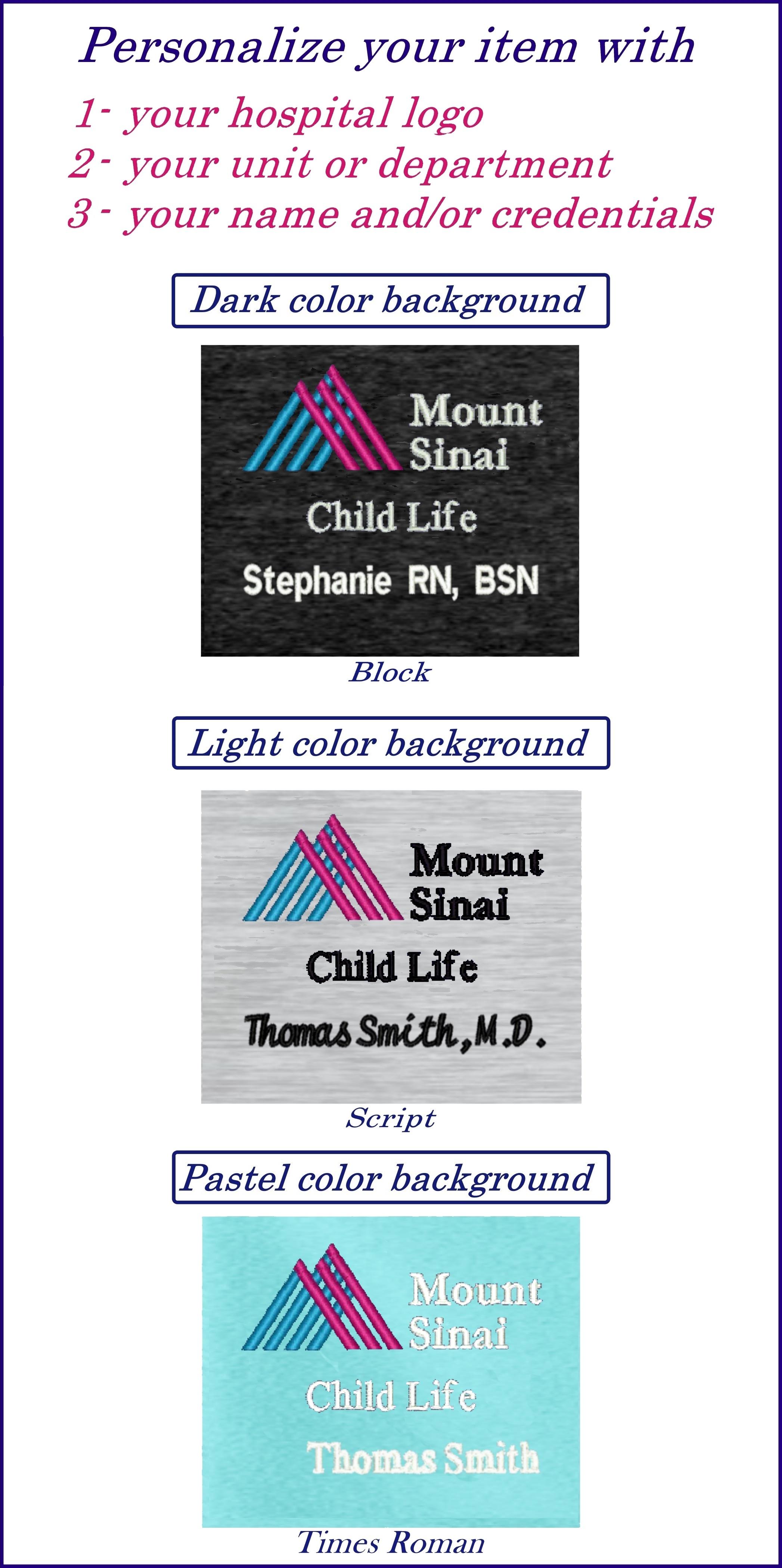 Allen's Hospital Uniforms Mount Sinai Hospital Apparel