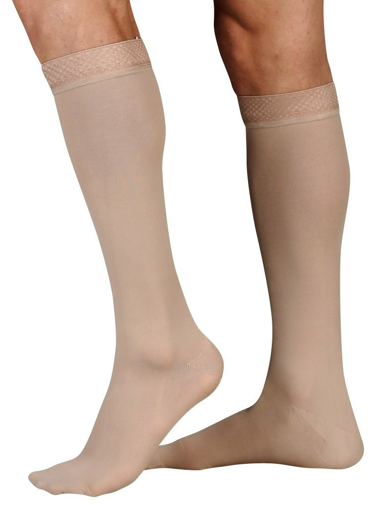 Juzo Soft Knee High Stockings 15-20 mmHg with Silicone Band #2000ADSB