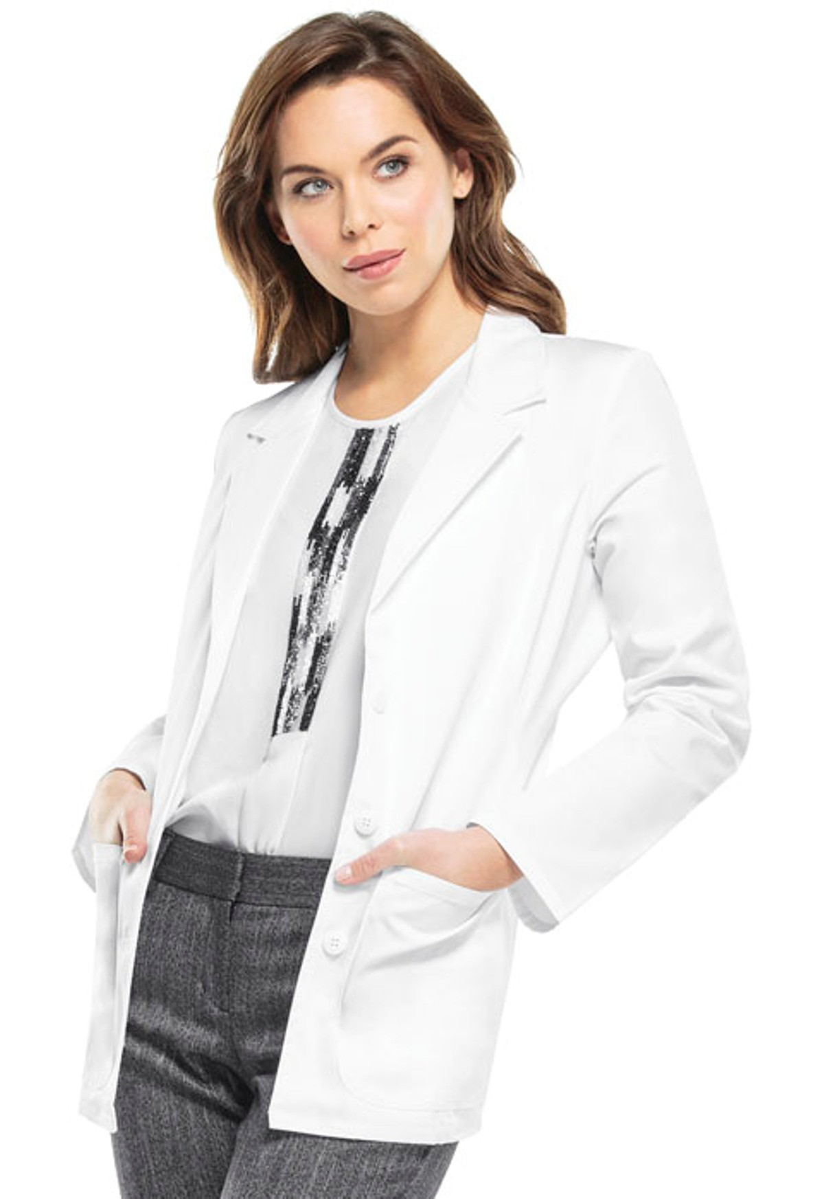 """MGH Institute of Health Professions Cherokee 28"""" Women's Lab Coat #2317"""