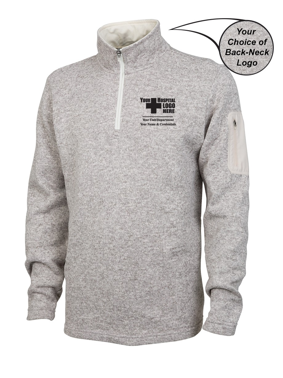 Lawrence Memorial-Regis College Charles River Men's Heathered Fleece Pullover