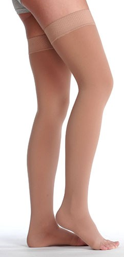 Juzo Soft Thigh High Stockings 20-30 mmhg with Silicone Band