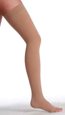 Juzo Dynamic Thigh High Stockings w/ Silicone Border 20-30 mmHg #3511AGSB