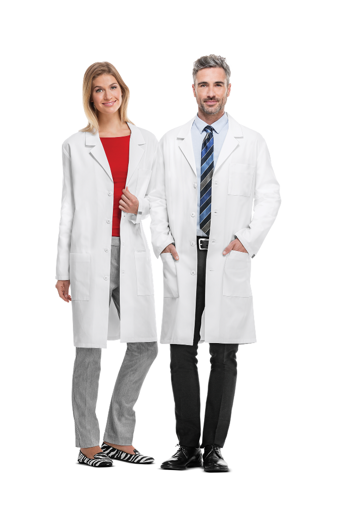 """MGH Institute of Health Professions Cherokee Unisex 40"""" Poly/Cotton Twill Lab Coat #1446"""