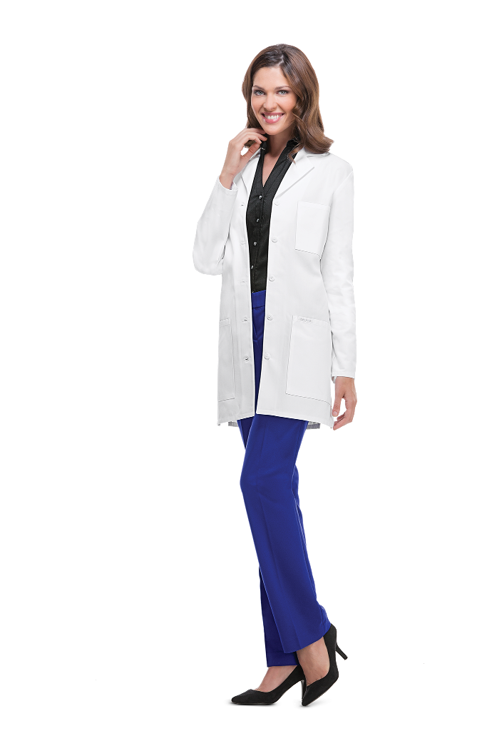 "MGH Institute of Health Professions Cherokee Women's 32"" Poly/Cotton Twill Lab Coat #1462"