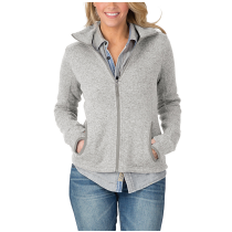 Charles River Women's Heathered Fleece Jacket #5493