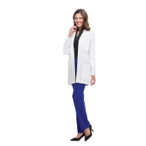 """MGH Institute of Health Professions Cherokee Women's 32"""" Poly/Cotton Twill Lab Coat #1462"""
