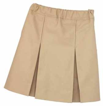 Girls K-12 box pleat skirt