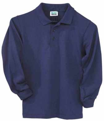 K-12 Long Sleeve Polo