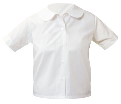 Girls Short Sleeve Round Collar Blouse #9381