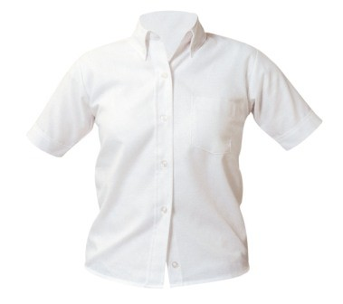 ASM Girls Short Sleeve Oxford Blouse #9461