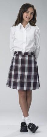 Girls Box Pleat Skirt #134