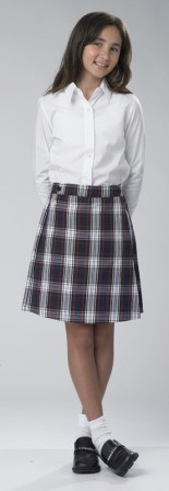 AKFC Girls Box Pleat Skirt #134 Grades 9-12