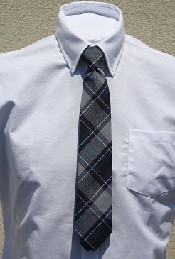 ASM Boys Pretied Plaid Tie-Grades 1-5 only
