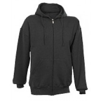 CCSC Black Russell Full Zip Fleece Hoody Sweatshirt