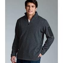 Men's Heathered Fleece Pullover with Woodland Academy Logo