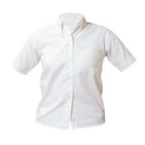 Girls Short Sleeve Oxford Blouse #9461
