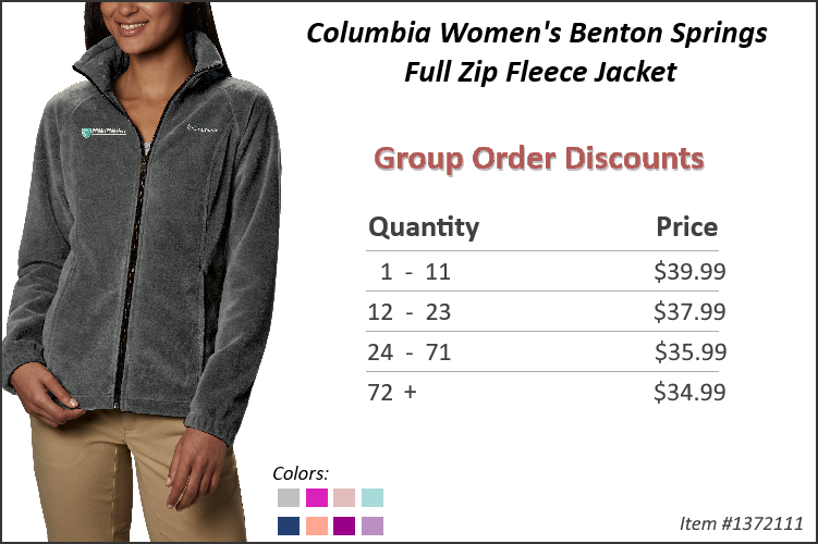 Columbia Women's Benton Springs Fleece Jacket 1372111