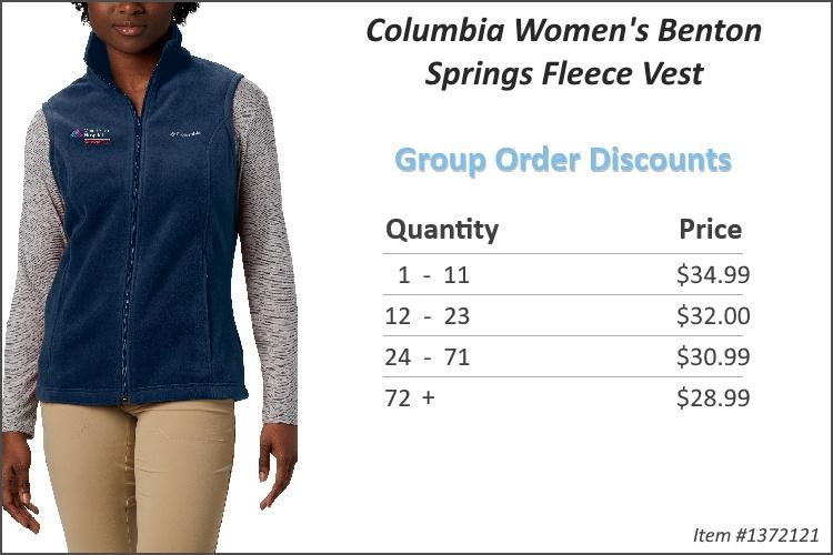 Columbia Women's Benton Springs Fleece Vest 1372121