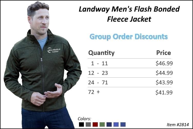 Landway Men's Flash Bonded Fleece Jacket 2814