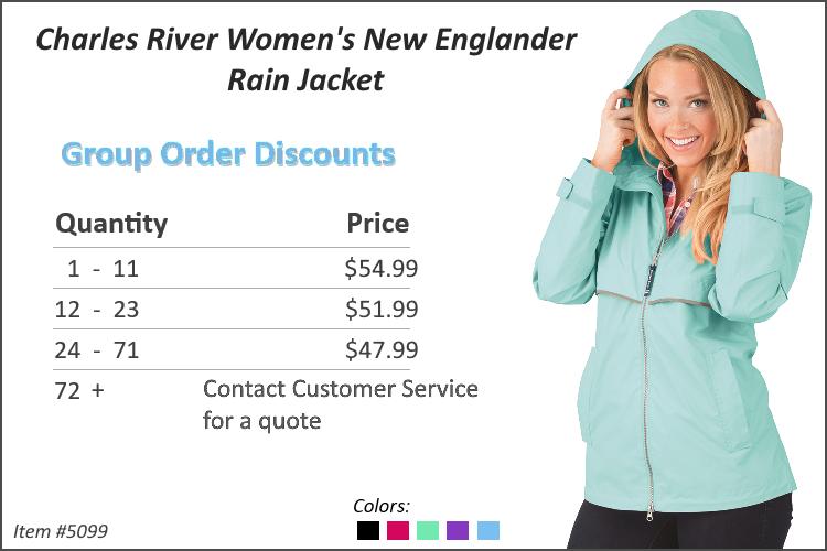 Charles River Women's New Englander Rain Jacket 5099