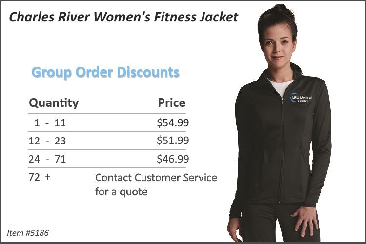 Charles River Women's Fitness Jacket 5186