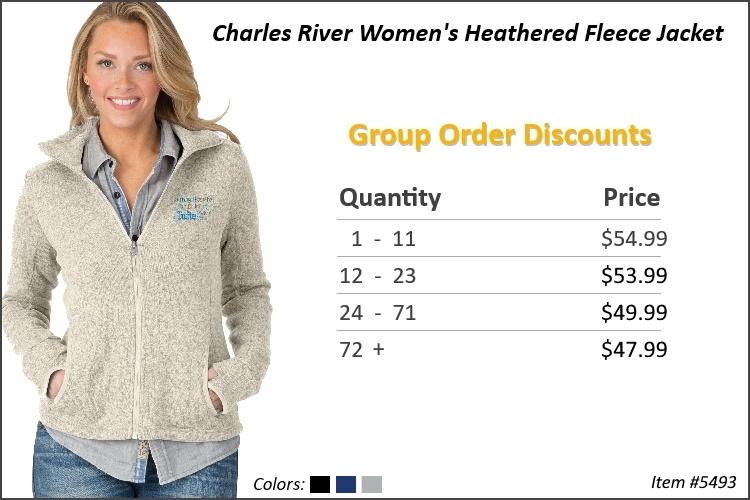 Charles River Women's Heathered Fleece jacket 5493