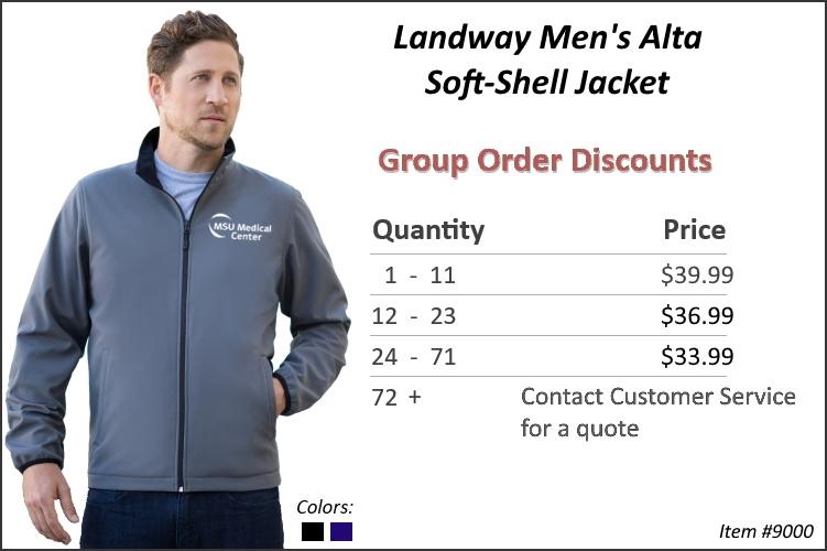 Landway Men's Alta Softshell Jacket 9000