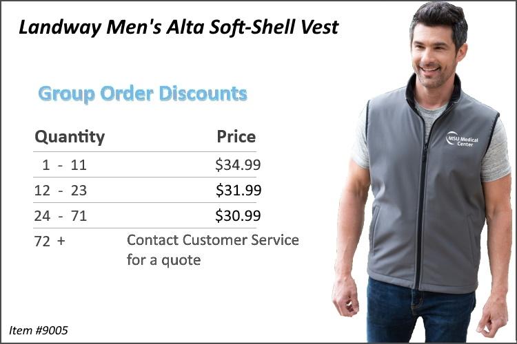 Landway Men's Alta Soft-Shell Vest 9005