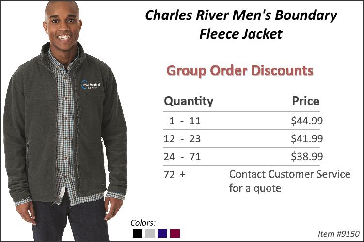 Charles River Men's Boundary Fleece Jacket 9150