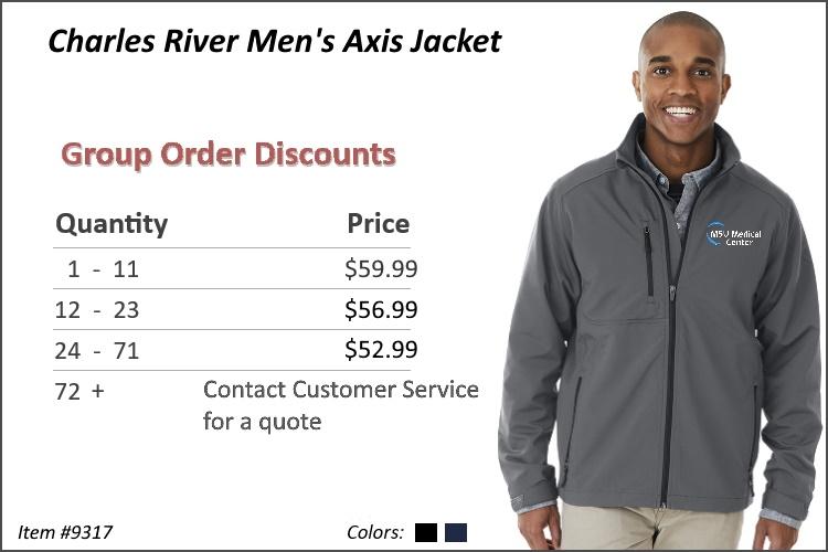 Charles River Men's Axis Jacket 9317
